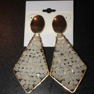 NEW Dangly White Sparkly Earrings